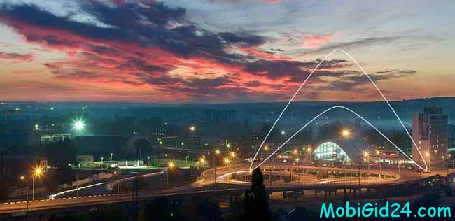 Луганск вечером